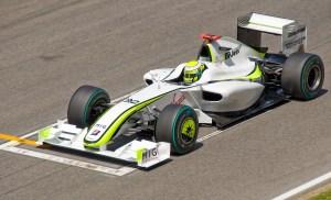 The Brawn BGP001. According to reports, ofrmer Super Aguri engineers contributed greatly to the success of the car.