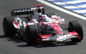 Sato at Interlagos, the final race of 2006. It would be Super Aguri's breakout performance, finishing 10th.