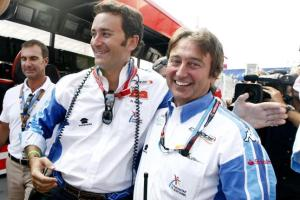 Adrian Campos (r) and Alejandro Agag (l) were linked to the takeover of Super Aguri in late 2007. It never materialised, but opened the floodgates to further bids for the team.