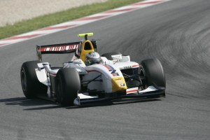 Di Grassi racing for ART in 2007 at Barcelona. After a tough first year, he proved himself as a championship contender.