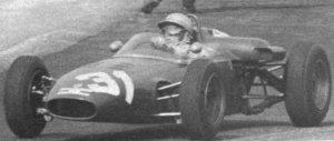 Geki racing his De Sanctis-Ford at Monza, during the 1965 Italian Formula Three season.