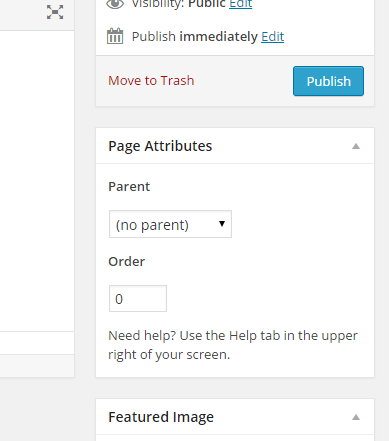 Order of Page Attributes