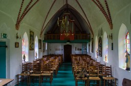 The beautiful interior of Harkema church