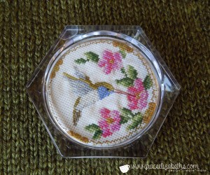 Cross-stitch Humming Bird Coaster - Grace Elizabeth's