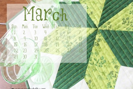 National Craft Month - March Calendar Free Download by Grace Elizabeth's