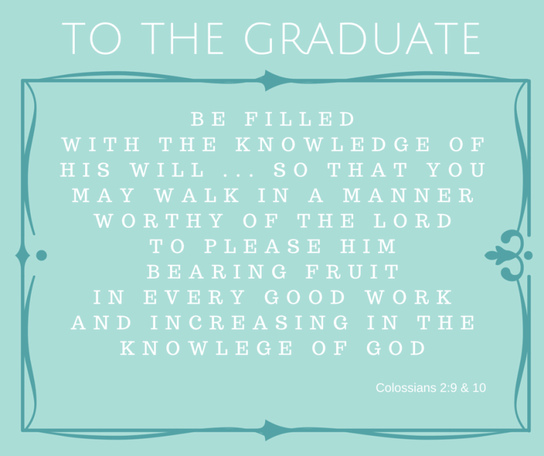 Scripture for the Graduate - Grace Elizabeth's