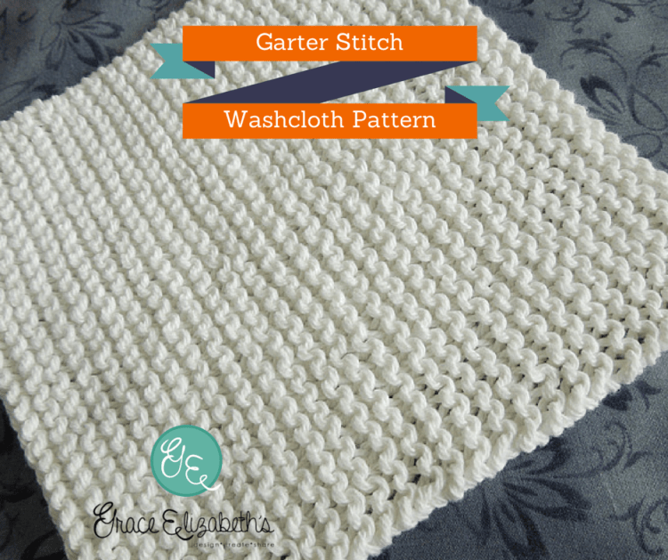 Free Pattern: Garter Stitch Washcloth by SonyaKay for Grace Elizabeth's