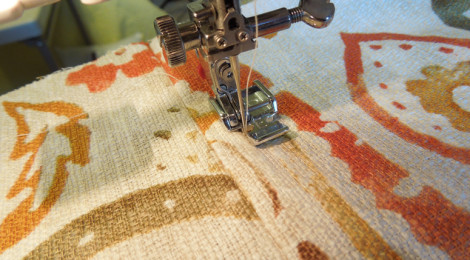 Pivot and topstitch
