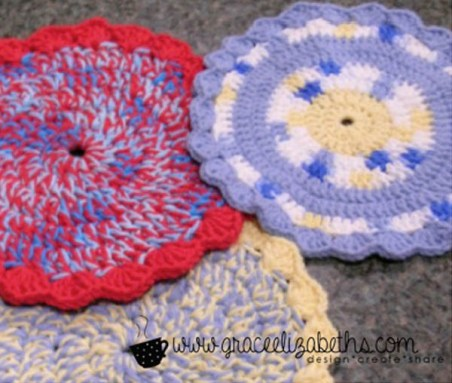 VIntage Hot pad and washcloth Collection