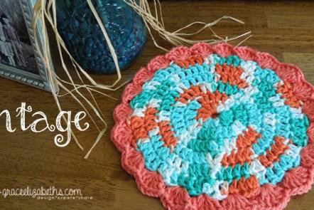 Vintage Crochet Hot Pad by Grace Elizabeth's