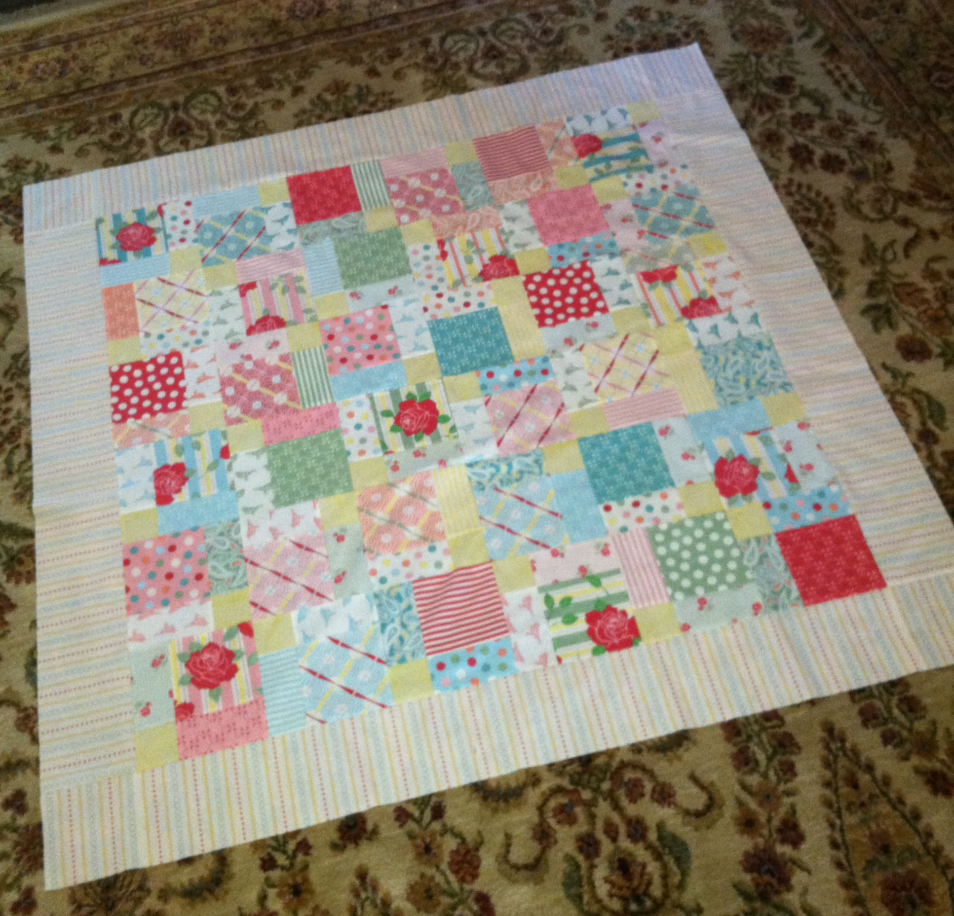 Disappearing Nine Patch Quilt Pattern - The Spruce