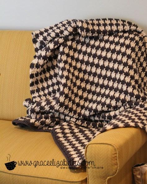 houndstooth afghan