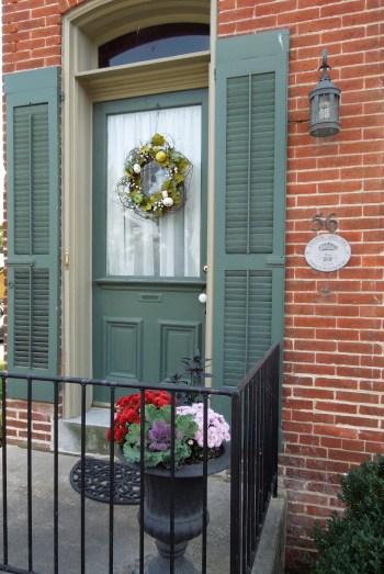 Green Door Wreath www.GraceElizabeths.com