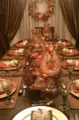 Our Thanksgiving table last year.  I buy items right after the holiday is over so that I can decorate the following year to my heart and wallets content!
