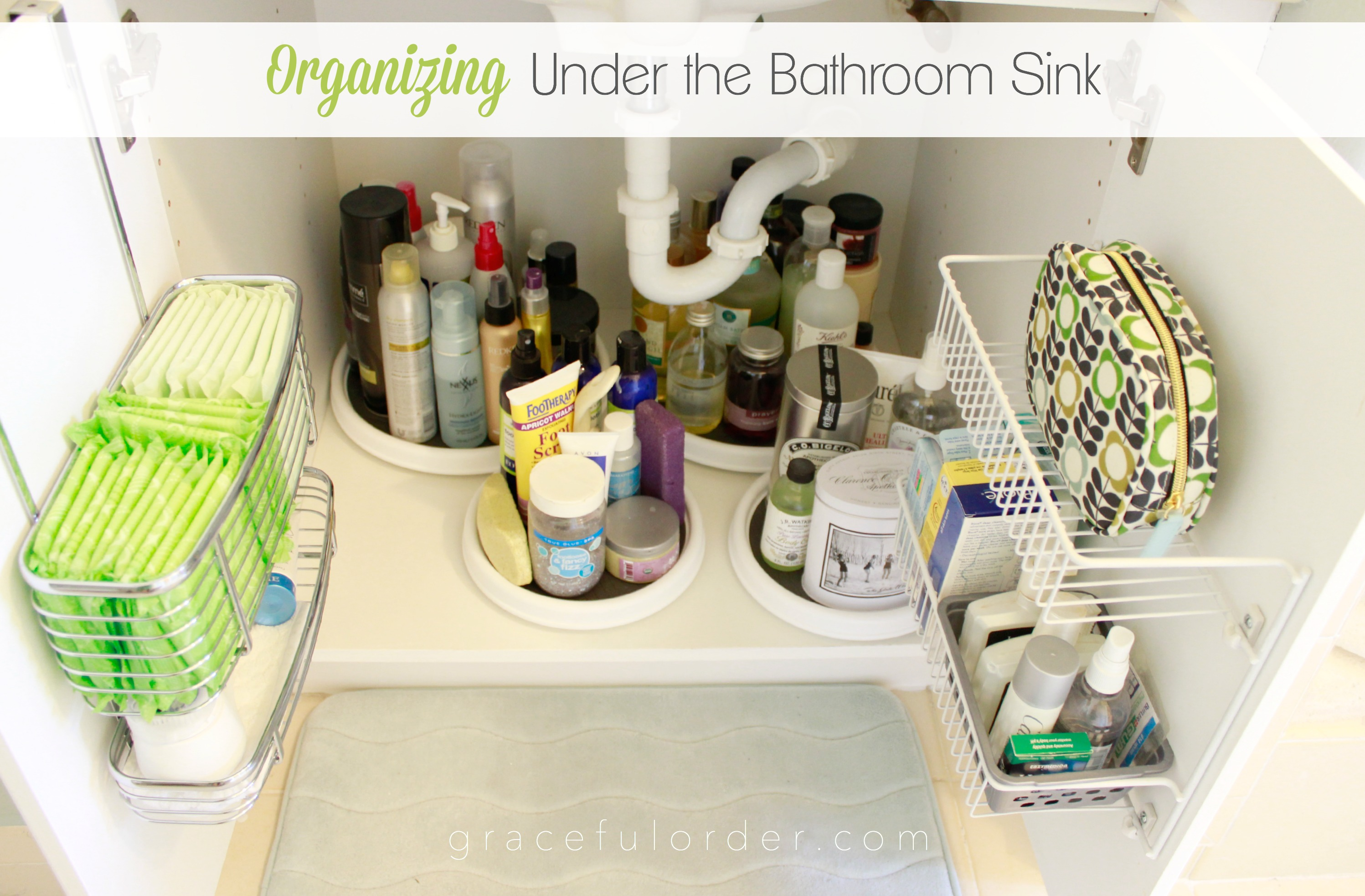 Organizing under the bathroom sink graceful order How to organize bathroom