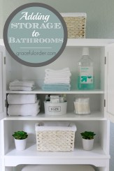 Adding Storage to Bathrooms