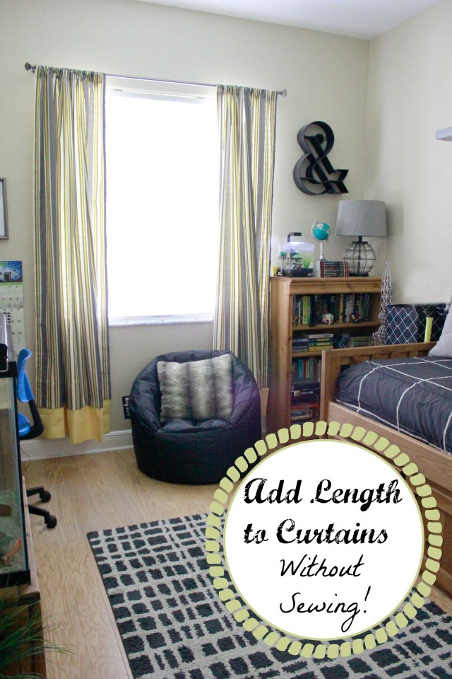 Making Curtains Longer Without Sewing