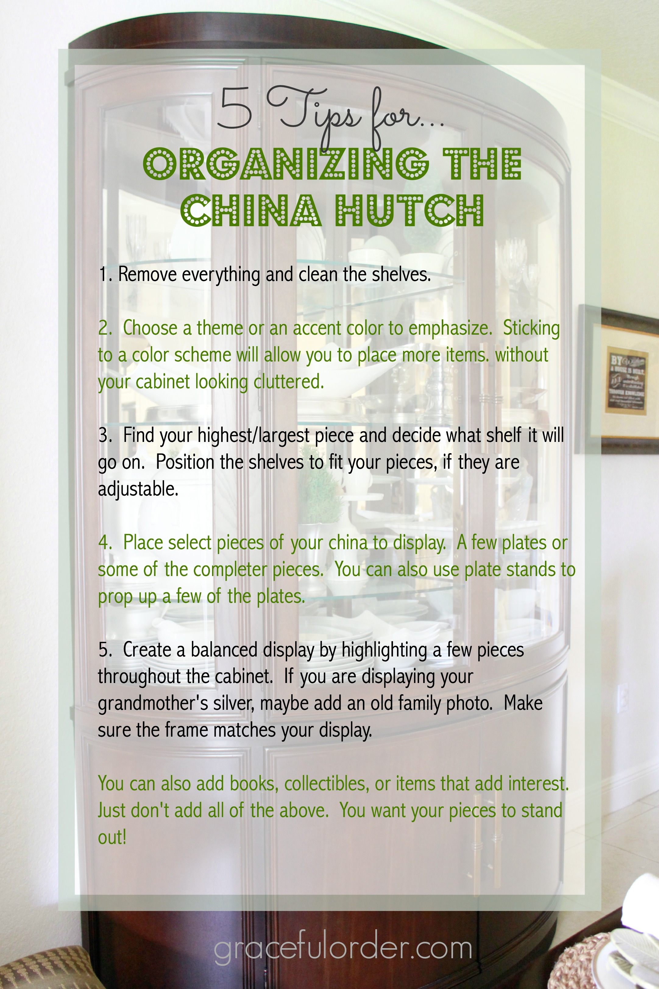 Superior Decorating A China Cabinet / Hutch
