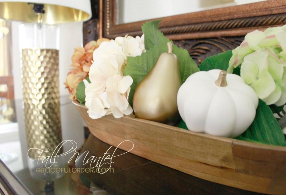 Decorating a Fall Mantel