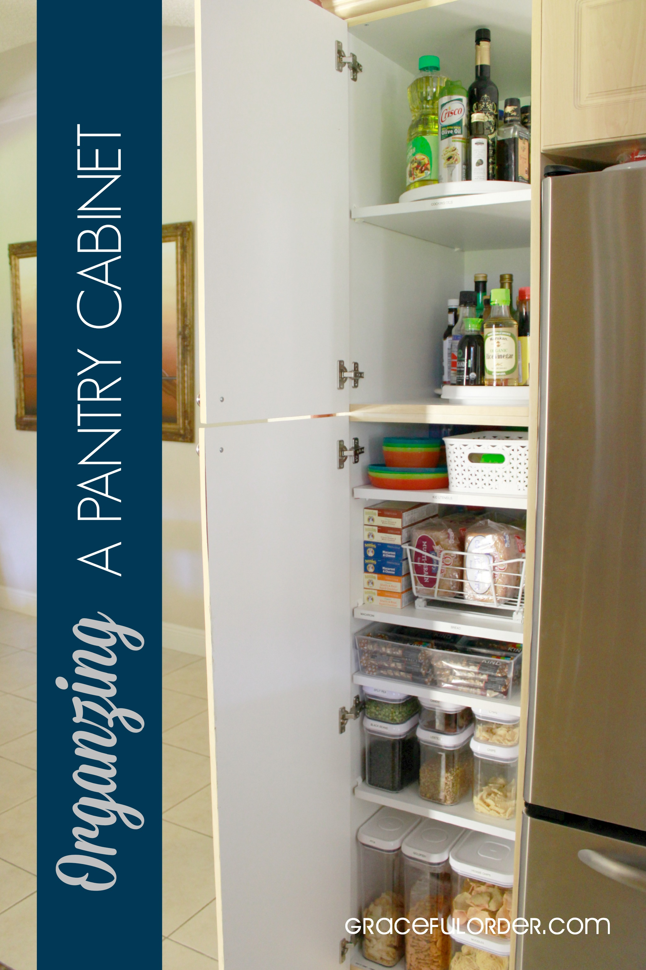 Organizing a Deep Pantry Cabinet - Graceful Order