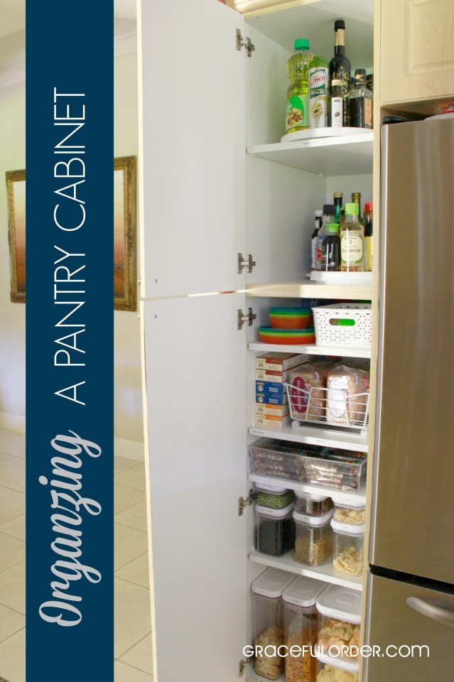 Organizing a deep pantry cabinet graceful order for Ideas organizing kitchen cabinets