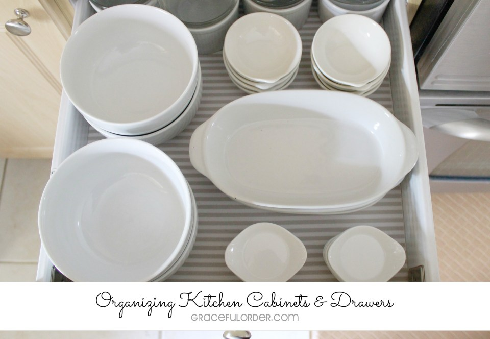 Organized Home - Kitchen Cabinets and Drawers