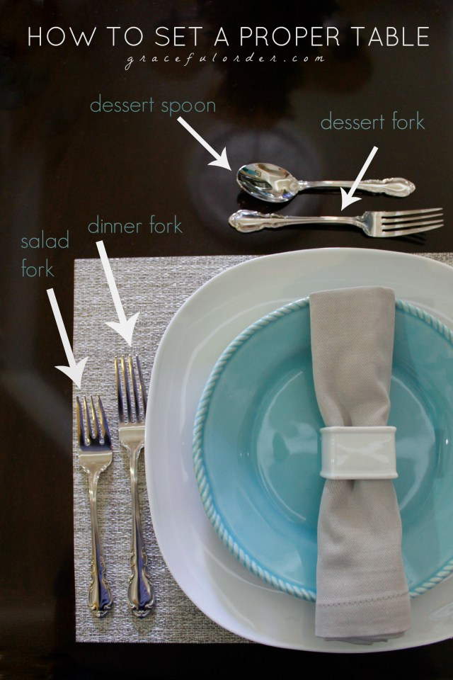 How to Set a Proper Table Setting