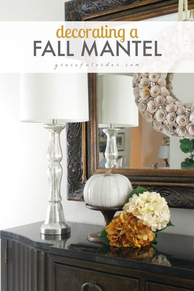 Decorating a Fall Matel