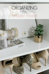 Organizing the master closet