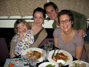 Family dinner at Candle Cafe - one of many amazing NY vegan restaurants.