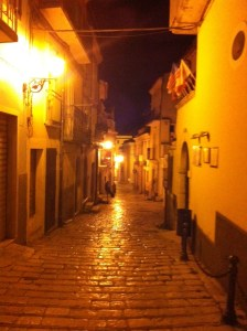 The alleyways I had to navigate to find the restaurant.  So worth it!