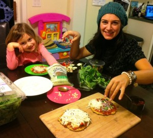 Pizza making party with Auntie 'Cole.