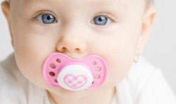 Baby with soother