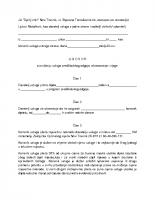Ugovor o pruzanju usluga vrtica