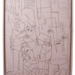 Stop, Look, Listen | 121cm x 99cm | Acrylic, marker pen | 2002