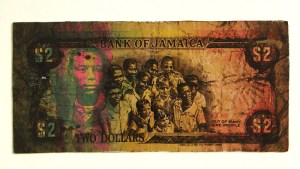 Bank of Jamaica, One People | 21cm x 43cm | screen print, collage | 2009