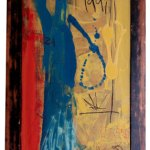 Man, You Loco | 120cm x 80cm | Acrylic, gloss & mixed media on board | 1997