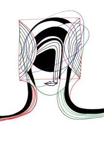 BLACK ANGELS 5   Pen and Ink   Inward Gaze, Outward Focus (Synesthesia)    21cm X 29.7cm    2015
