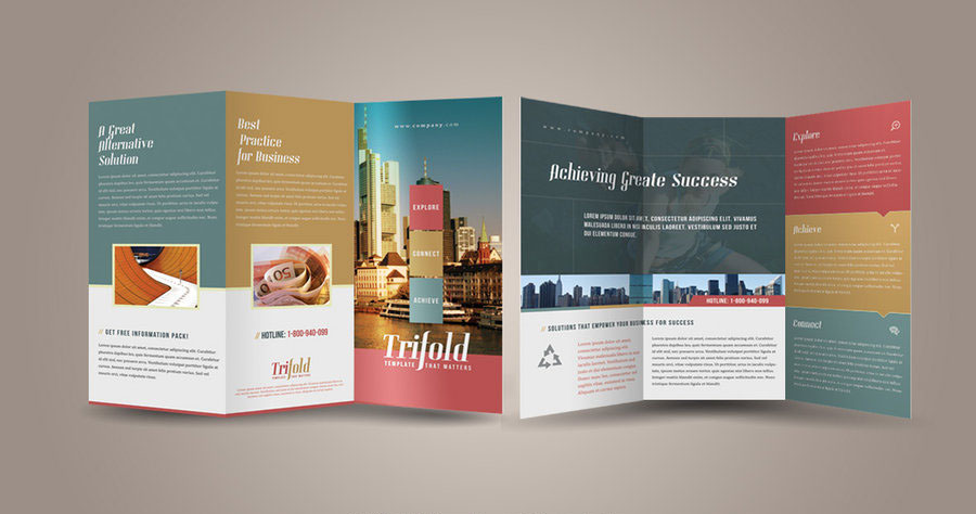 Tri fold and Bi fold Brochure Design Suggestions     graf1x com brochure design