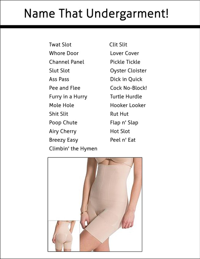 beaver spanx underwear
