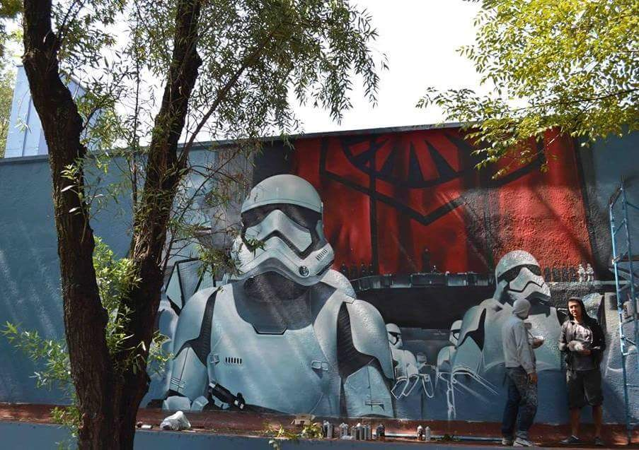 Force Awakens Star Wars Graffiti