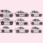 Vektor kereta minimalist
