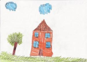 Dibujo realizado por un niño de 7 años