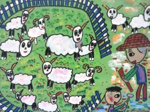 Remienda el redil después de que le robaron las ovejas (fábula china). Autor 7 años