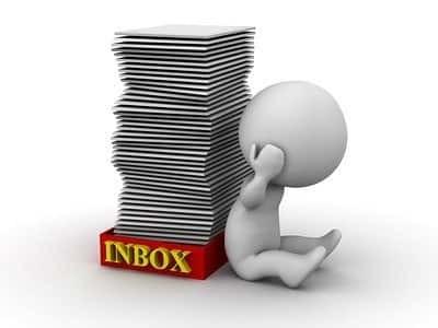 Full inbox - email overload