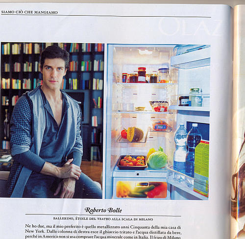 Roberto Bolle Fridge Roberto Bolle reveals whats in his fridge...