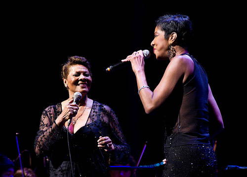 Dionne Warwick Natalie Cole The Hunger Project 2011 Dionne Warwick, Cliff Richard, Alexandra Burke and Katie Melua among those singing for World Hunger Day 2012