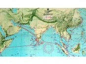 Map of Zheng He's voyages