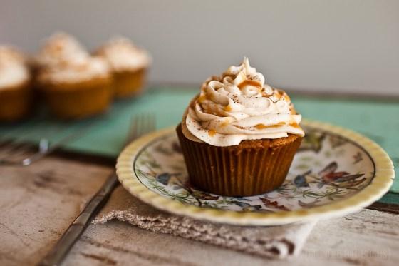 Spiced Eggnog Cupcakes ::GranolaGirlBakes