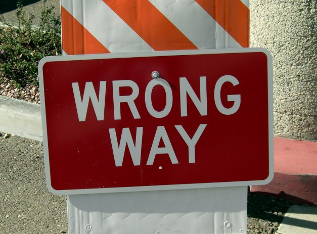WrongWay CC BY Jerryonlife